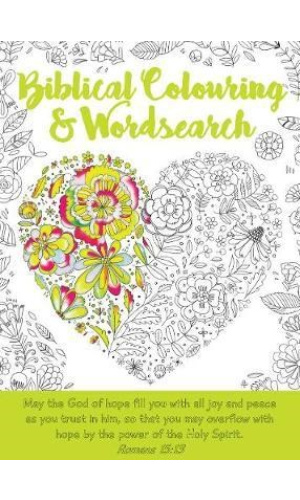 Biblical colouring and wordsearch Novia